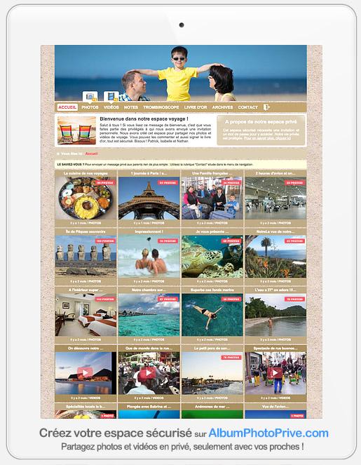 Créer un album photo privé et sécurisé en ligne pour partager à distance avec sa famille éloignée ou ses amis