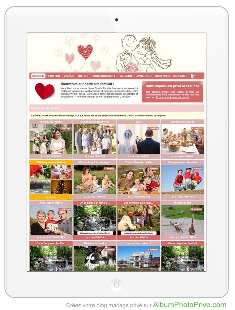 Créez maintenant votre blog mariage privé