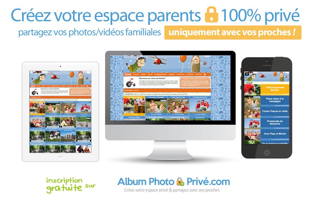 Partage photo privé pour la famille, mariage, voyage, naissance...