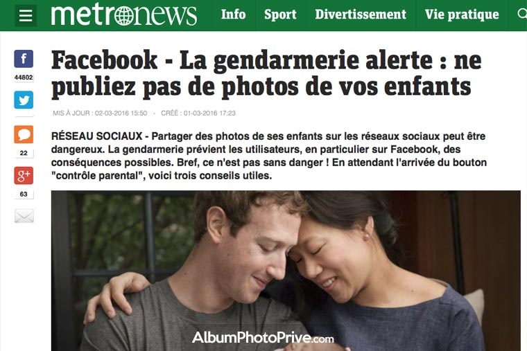 Photos de naissance sur Facebook : la gendarmerie met en alerte les parents