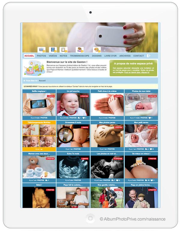 Blog maman bébé privé, uniquement accessible aux personnes que l'on choisi