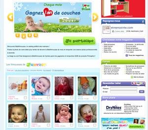 Exemple de sites parentaux où publier des photos de son bébé engendre de nombreux risques de vie privée et de droit à l'image.