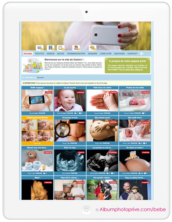 Album photos bébé, journal de grossesse ou blog de naissance privé