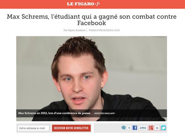 Depuis plusieurs années, cet étudiant en droit autrichien se bat en justice contre le réseau social Facebook, qu'il accuse de ne pas respecter le droit à la vie privée.