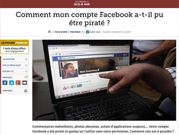 A tout moment, un simple piratage de compte peut engendrer de graves problèmes