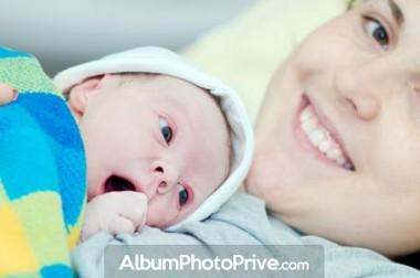 Faire part naissance en ligne : l'espace photo privé de bébé