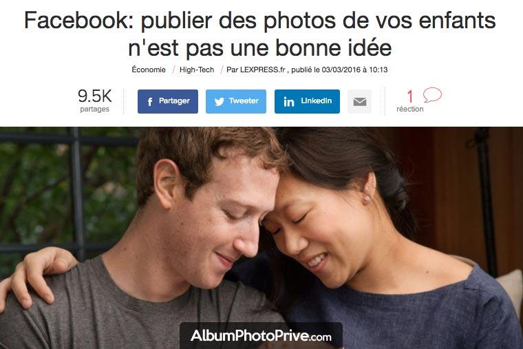 Facebook : partagez vos photos d'enfants sur les réseaux sociaux n'est pas une bonne idée