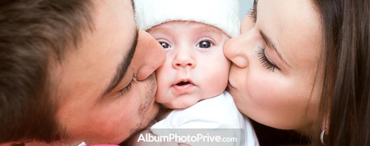 Grossesse, naissance, évolution : créez l'album photo privé de votre bébé