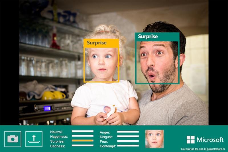 Le project Oxford de Microsoft permettant de détecter les émotions des personnes sur les photos