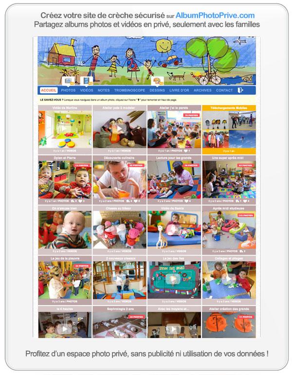 Créer un site de crèche privé : partagez seulement avec les familles et protégez le droit à l'image des enfants
