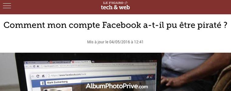 Même avec un compte Facebook privé, le risque de piratage est élevé