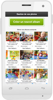 L'espace de partage photos/vidéos sur mobile une fois qu'on est connecté