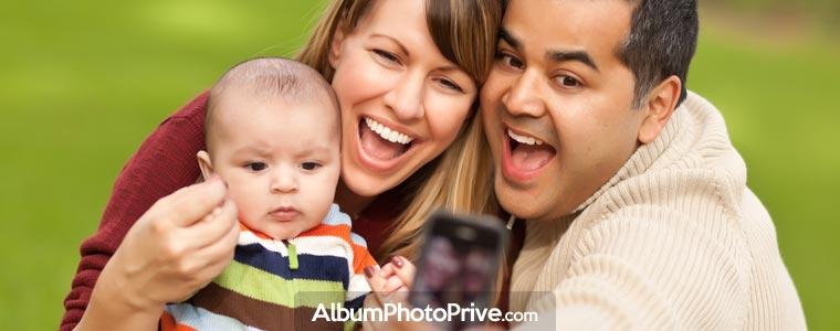 Partagez l'évolution de votre bébé en privé avec la famille et les amis