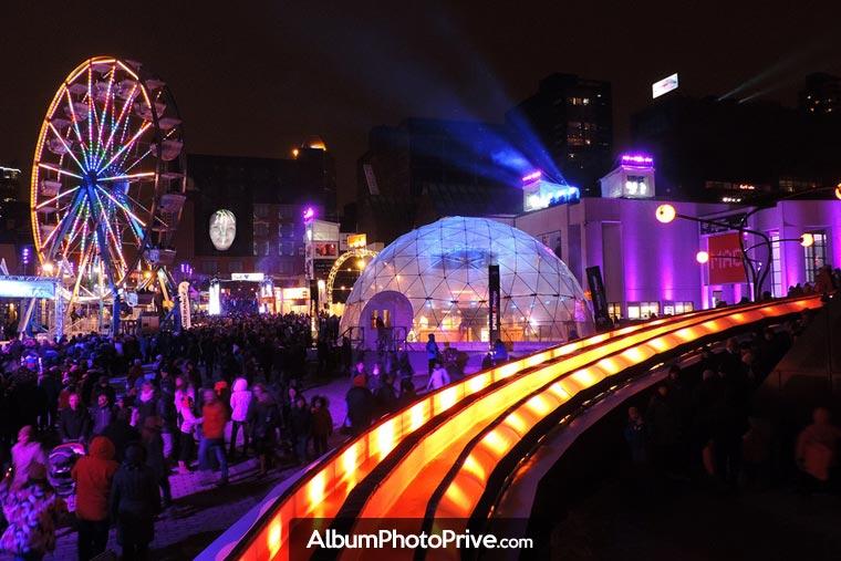 Le Quartier des spectacles de Montréal et sa programmation d'événements culturels