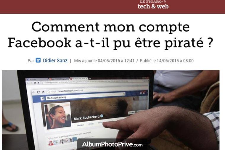Sur Facebook, les piratages sont fréquents