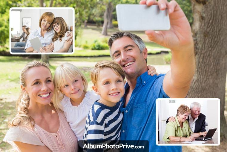Créer son espace de famille expatriée permet de partager photos et vidéos en toute sécurité, seulement avec ses proches
