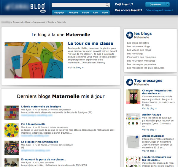"""Classe maternelle : En tapant """"blog de classe maternelle"""" dans google, on peut trouver un grand nombre de sites publics où sont partagées les photos des élèves..."""