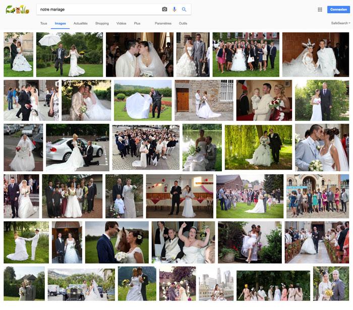 Partager ses photos de mariage sur les réseaux sociaux, c'est prendre le risque de les retrouver sur Google images....