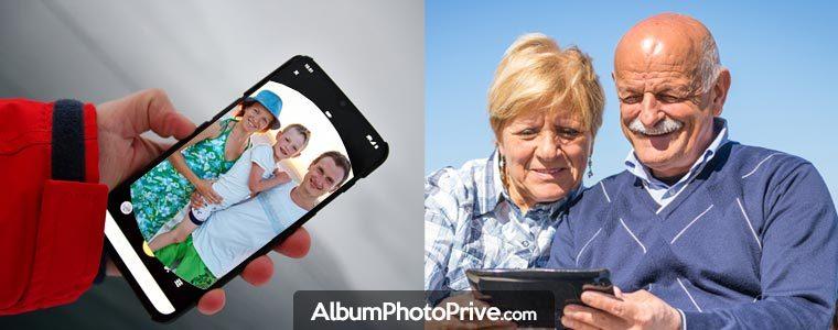 Partage album photo privé avec la famille ou entre amis