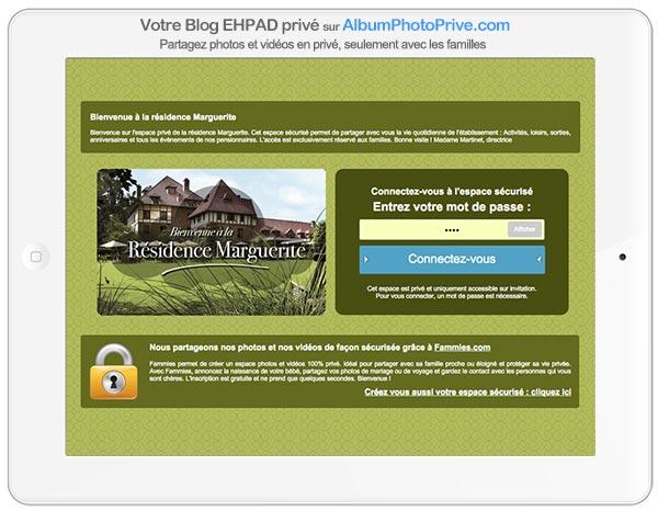 Blog ehpad privé pour partager à distance avec les familles